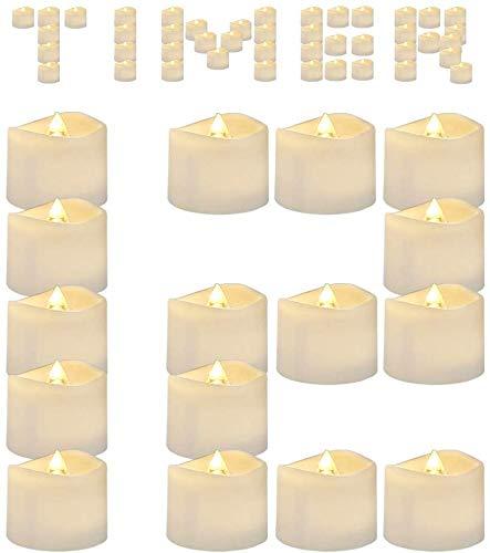 DOOK 12 Velas de LED Pequeñas con Efecto Llama, Velas Electricas Decorativas...