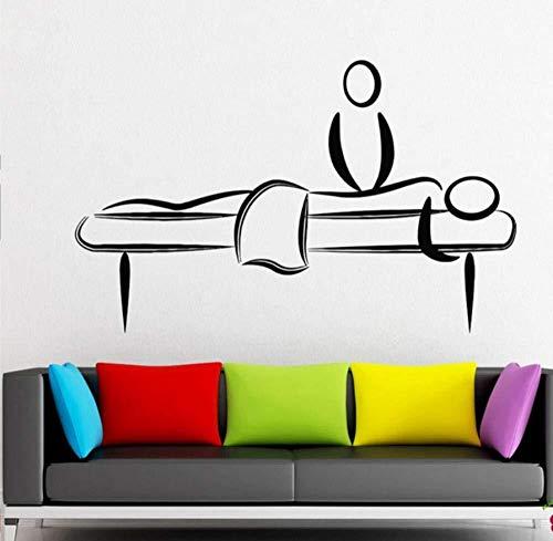 Etiqueta engomada del arte de la pared decoración de la sala de masajes belleza de las mujeres pegatina de relajación vinilo extraíble cartel mural moderno 68 * 42 cm