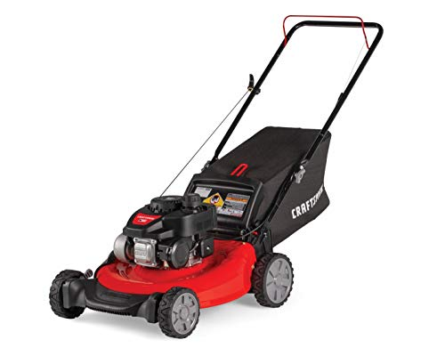 Craftsman M105 140cc 21-Inch 3-in-1 Gas Powered Push Lawn Mower with Bagger, 1-in, Liberty Red