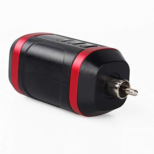 Fuente de Alimentación Inalámbrica para Tatuar - Conector RCA DC - Batería de Carga Rápida - Suministros para la Máquina Rotativa para tatuar (Puerto DC, Rojo)