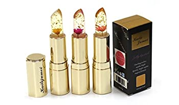 Kailijumei Limited Edition Gold Casing Flower Jelly Lipstick - Complete Set of 3
