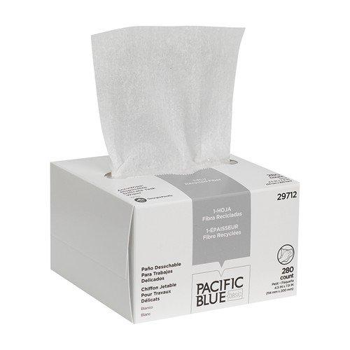 Accuwipe Eyeglass Wiping Cloth, 4.5'x7.9',White, Sold as 1 Box, 280 Each per Box