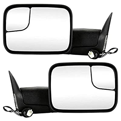 Prime Choice Auto Parts KAPCH1320307PR Pair of Right and Left Towing Power Heated Side View Mirrors