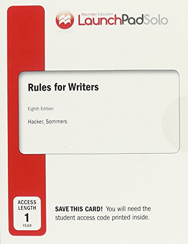 Launchpad Solo for Rules for Writers, Twelve Month Access