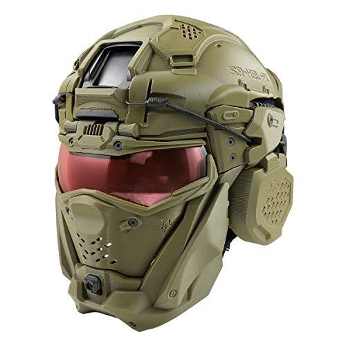 【同梱不可】 SRU タクティカルヘルメットセット (FAST BJヘルメット付属) OD 【配送業者:佐川急便限定】