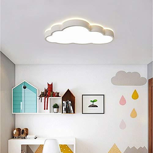 Lustre Cartoon Cloud Plafonnier Télécommande Gradation 360 ° Surround Boy Garçon Fille Enfants Lumière pendante (Couleur : White)