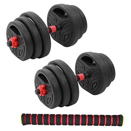 Zerone - Juego de pesas de 20 kg, juego de pesas redondas, para gimnasio en casa con 40 cm