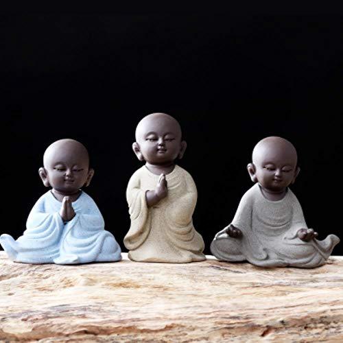 SINS Tee Haustier Kleiner Mönch Zen Keramik Tee Zubehör für Tee Home Decoration Buddha Figuren, D.