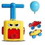 AWFAND Inertial Power Ballon Auto, aufblasbare Ballonpumpe Hand Push Air Power Ballon Wissenschaft...