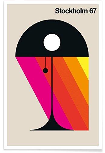 "JUNIQE® Retro Stockholm Poster 30x45cm - Design ""Stockholm 67"" entworfen von BO Lundberg"