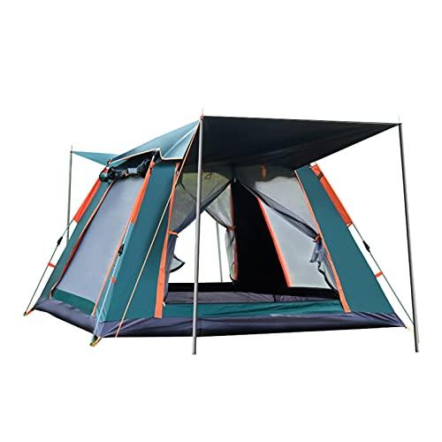 YSJJYQZ Tienda de campaña 3-4 Persona Tienda de Viento a Prueba de Viento Camping de campaña automática Tienda de campaña Picnic Viajar Camping Tienda Al Aire Libre Impermeable Tarp Shelter Travel