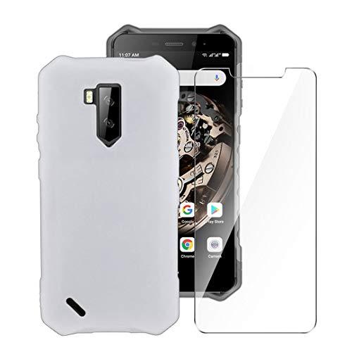 LJSM Hülle für Ulefone Armor X5 / Ulefone Armor X9 + Panzerglas Bildschirmschutzfolie Schutzfolie - Semi-Transparent Weich Silikon Schutzhülle Flexibel TPU Tasche Hülle für Ulefone Armor X5 (5.5