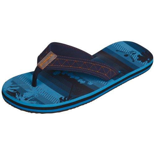 Chiemsee 6060102 Kite, trendige Herren Zehentrenner, schöne Sommerschuhe leicht und komfortabel, Badelatschen universell einsetzbar, coole Schlappen mit Palmenprint