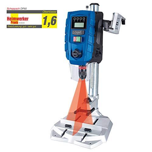 Scheppach DP60 Tischbohrmaschine mit Digitaldisplay LED und Laser Bohrmaschine 13 mm| 710 W | Drehzahl: 170 – 880 / 490 – 2600 min-1 | Bohrfutterspannbereich: 1,5 – 13 mm