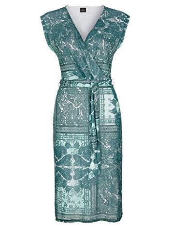 s.Oliver BLACK LABEL Damen Kleid kurz Cream Paisley AOP 44