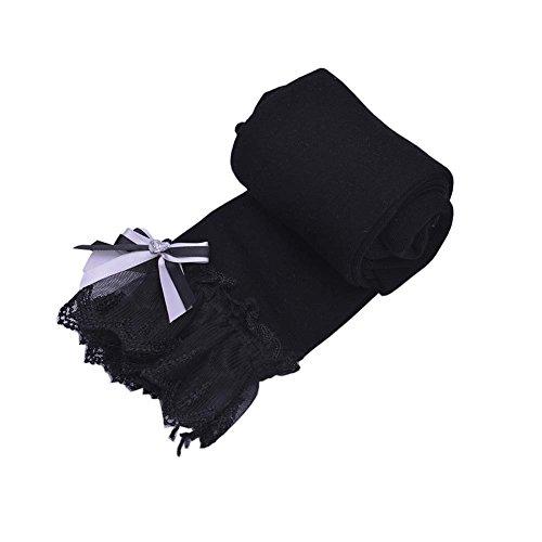 Black Temptation Sweet Lace Design Mädchen Hose Strumpfhose Leggings Mädchen Strümpfe Mädchen Strumpfhosen Great Gift für Kinder, A