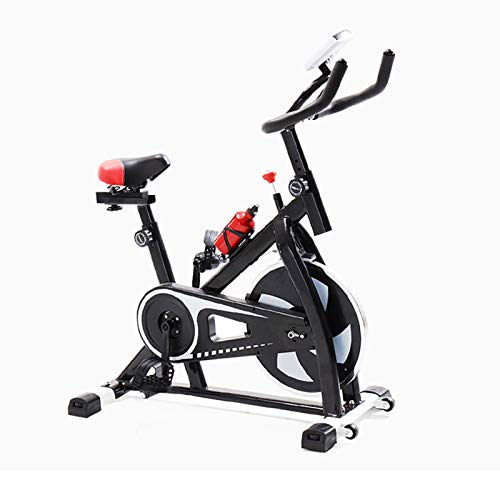 HMBB Bicicletas estáticas y de spinning, Bicicleta estática, cubierta ciclo de la bici, manillar ajustable del asiento resistencia, con pantalla, electromagnética bicicleta de spinning for el hogar co