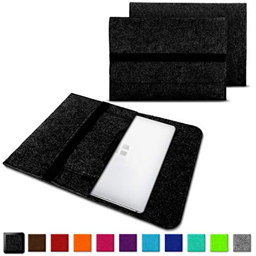 NAUC Laptoptasche Sleeve Schutztasche Hülle für Trekstor Surftab Theatre 13,3 Zoll Netbook Ultrabook Laptop Case, Farben:Dunkel Grau