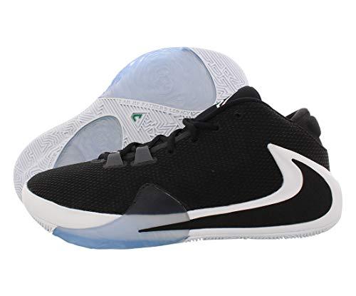 Nike Mens Zoom Freak 1 Basketball Shoes (Black/Black-White-Lucid Green, Numeric_11)