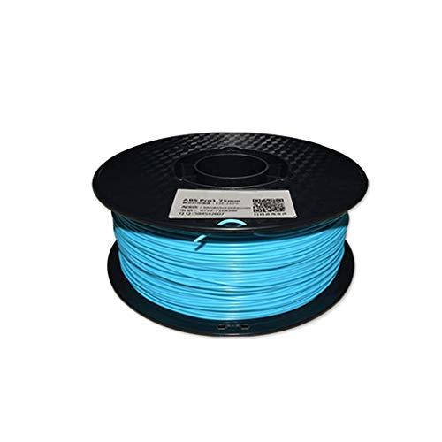 Haute performance Filament d'imprimante 3D Filament ABS 1.75mm Matériau d'impression 3D Précision plastique ABS +/- 0.02mm multicolore en option (1kg) Utilisé pour l'imprimante 3D et le stylo d'impres