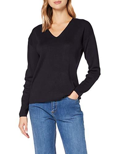Street One Damen 301305 Style Coralie Pullover, Dark Blue, 40