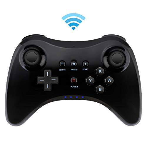 Controller for Wii U, Bigaint Wireless Pro Controller Bluetooth Gamepad Connected to Wii U Console Dual Analog Joystick-Black