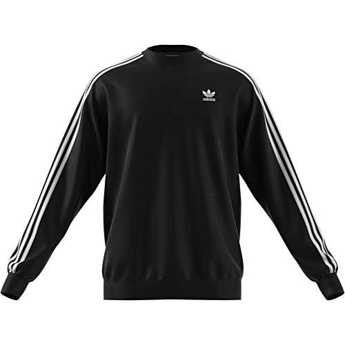 adidas 3 Stripes Crew Sweater Sweatshirt (M, Black)