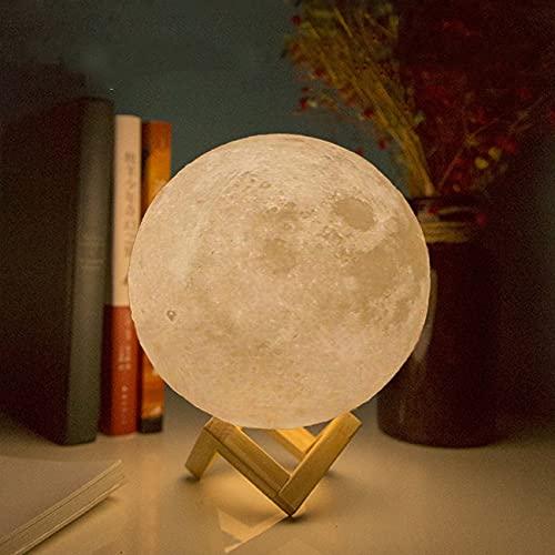 CPLA Moon Light Moon Lamp 5.9inch Moon Night Light Moon Lamp for Bedrooms 3D Printed Moon Lamp Galaxy lamp Lava Lamp Moon Luna Lamp Personalized Moon Light Kids Night Light