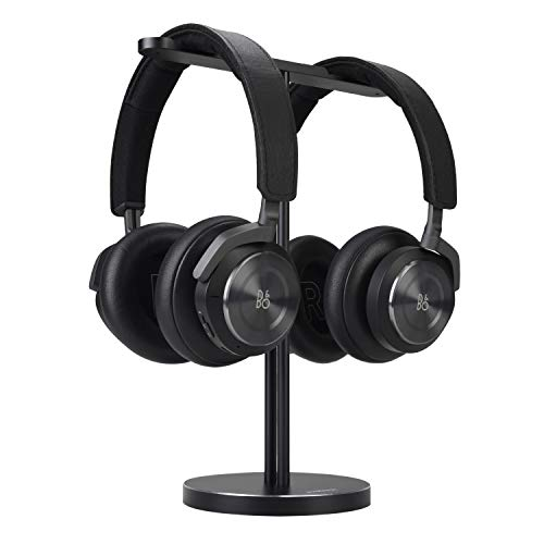 JOKItech Dual Aluminum Headphones Stand Holder, Showcase Multi Headphones with Solid Heavy Base, Compatible with Gaming Headsets and Wireless Headphone Black