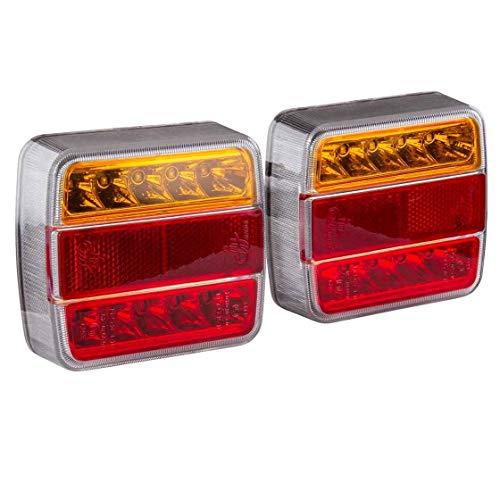 Dreifunktionsleuchte LED | komplett verkabelt | 7-poliger Stecker | 7,5 Meter Hauptkabel | 2,2 Meter Zwischenkabel | Anhänger | Anhängerbeleuchtung | Leuchte