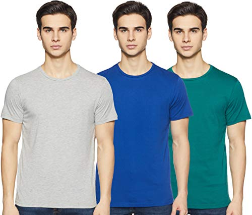 Amazon Brand - Symbol Men's Solid Regular Fit Half Sleeve Cotton T-Shirt (Combo Pack of 3) (AW17PLPO3-4_L_Multicolor4)