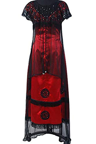 SIDNOR Titanic Rose Evening Ball Gown Party Dress Cosplay Costume Jump Victorian Outfit (XX-Large)