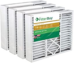 FilterBuy 24x25x5 Air Filter MERV 11, Pleated Replacement HVAC AC Furnace Filters for Carrier (4-Pack, Gold)