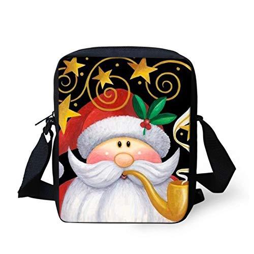 Pizding Christmas Santa Claus Design Mini Messneger Bag Easy Clean Shoulder Handbag Outer Travel Cross Body Bags Crossbody Purse Phone Key Bag Stylish
