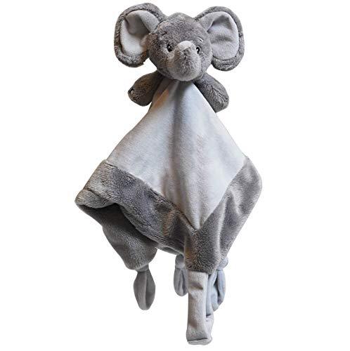 My Teddy My Newborn Kuscheltuch Elefant Grau - Schnuffeltuch Schmusetuch für Kleinkinder Neugeborene Baby 35 cm