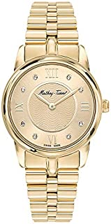 Mathey-Tissot Artemis Women's Gold Dial Stainless Steel Band Watch - D1086PDI