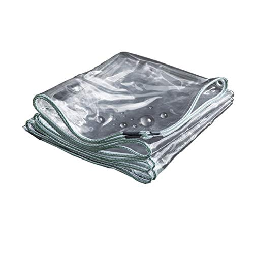 0,3 milímetros o 0,5 milímetros Muy Gruesa Impermeable Refugio Altamente Transparente Exterior película de plástico en PVC Blando Tela de Lona rainclothes Parasol
