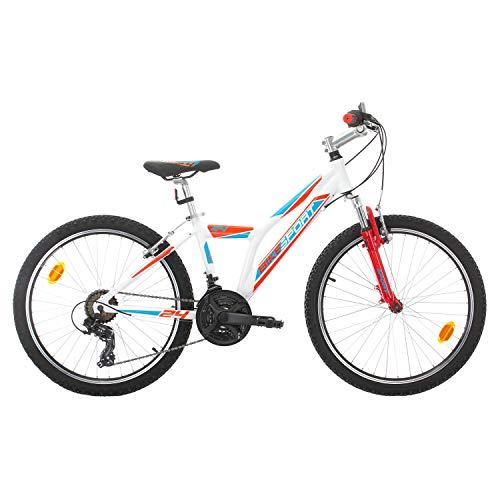 Bikesport Direction Bicicleta para niño, Tamaño de Rueda: 24', Aluminio Cuadro 21 velocidades Shimano Blanco Negro