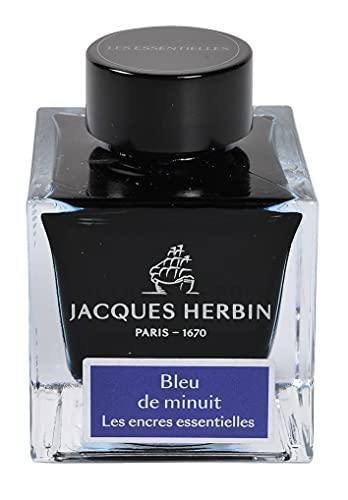 Jacques Herbin 13119JT - Bote de tinta para pluma y bolígrafo de punta redonda, 50 ml, color azul
