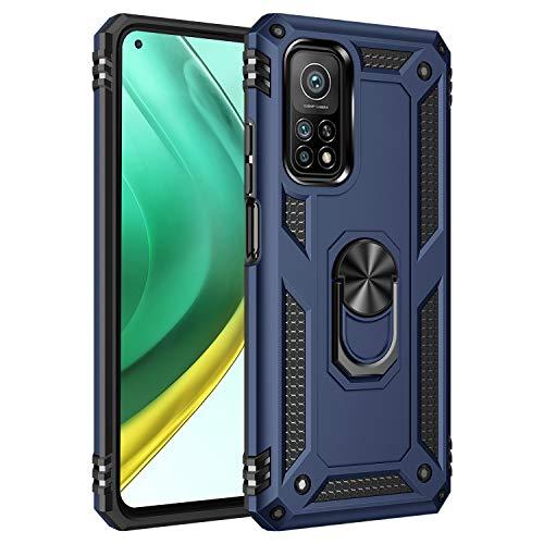 Jierich para Xiaomi Mi 11 Lite Funda,[Soporte] Fashion Design Heavy Duty Híbrida Rugged Armor Protección Resistente Impactos TPU + PC Funda para Xiaomi Mi 11 Lite-Azul