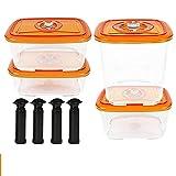 Recipiente de almacenamiento hermético Contenedor de aspirador de plástico para sellador de alimentos de vacío Húmedo a prueba de humedad Caja de almuerzo de cocina con tapa 0427 (Color : BBC BBS)