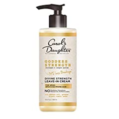 Carol's Daughter Goddess Strength Castor Oil Leave In Conditioner intensely moisturizes and helps to reinforce weak strands with every use Creamy Leave In Hair Conditioner with Castor Oil and Black Seed Oil makes hair stronger between washes and bett...