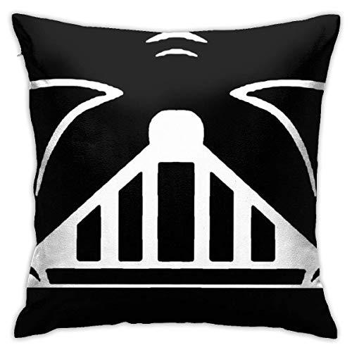 WH-CLA Couch Cushions Vader Face Ambos Lados con Cremallera 45X45Cm Funda De Almohada Decorativa para El Hogar Funda De Almohada Cuadrada Suave Funda De Almohada Decorativa para El Hogar