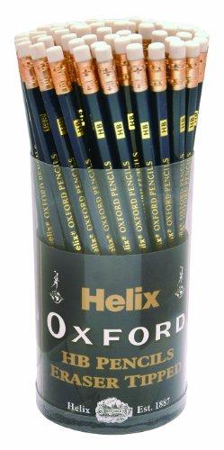 Helix Oxford Executive P60272 - Matite HB con gommino, 72 pz