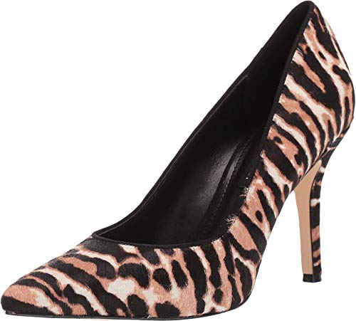 NINE WEST Women's WNFLAXP5 Pump, White Leopard, 7
