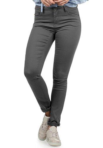 DESIRES Lala Damen Jeans Denim Hose Röhrenjeans Stretch Skinny Fit, Größe:W28/30, Farbe:Dark Grey (2890)