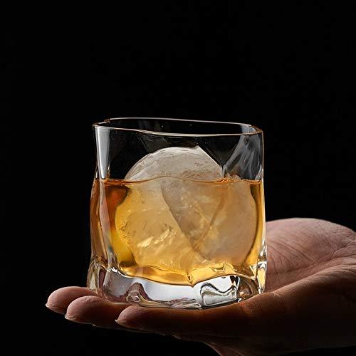 Copa de vino creativa 240 ml Irregular Whisky Rock Glass Artwork Arrugas Whisky Coñac Brandy Snifters Cup