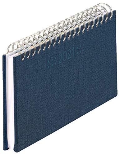 Schreibtischkal. Mini Nature 2021 17,5x9cm, 144 S, 1 Wo.=2 S, quer (Nature blau, 175 x 90 mm)
