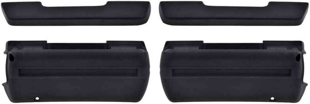 OER 4 Piece Black Urethane Armrest Ch Base 1968-1974 Ranking TOP11 and Pad In stock Set