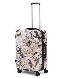 """small Calvin Klein Studio Terrace Hardside Spinner TSA Lockable Case Flowers / White 24 """""""